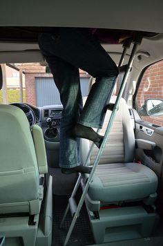 Leiter für Hubdachbett  € 120.- Länge 155cm  Breite 22cm  Gewicht 1,8kg 5 Sprossen  VW Camper Bus Aufstelldach - Schlafdach  Helfer