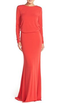 Rachel Zoe 'Maurie' Long Sleeve Blouson Gown available at #Nordstrom