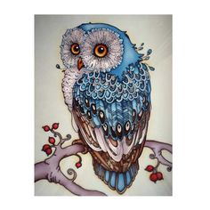 Owl Diamond Painting //Price: $10.01 & FREE Shipping //     #crafts #sewing