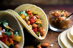 Tacos With Summer Squash, Tomatoes and Beans Recipe - NYT Cooking