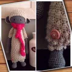 LUPO the lamb made by Marjet Q. / crochet pattern by lalylala