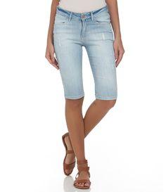 Bermuda Feminina em Jeans com Puídos - Lojas Renner