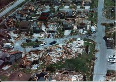 20th Anniversay of Hurricane Andrew. 1992 Andrew damage.