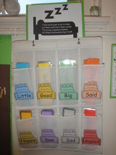 Tired Words interactive classroom display
