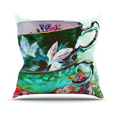 23 x 23 Square Floor Pillow Kess InHouse alyZen Moonshadow Mad Hatters T-Party III Abstract