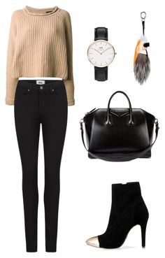 """""""Untitled #84"""" by mariajosepcm on Polyvore featuring Jo No Fui, Paige Denim, Daniel Wellington, Fendi and Givenchy"""