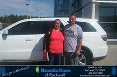 https://flic.kr/p/MMvXM8 | Congratulations Rebecca on your #Dodge #Durango from Scott Alexander at Honda Cars of Rockwall! | deliverymaxx.com/DealerReviews.aspx?DealerCode=VSDF