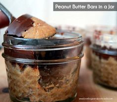 Peanut Butter Bars in a Jar Recipe
