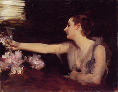 Paintings Reproductions Sargent, John Singer Madame Gautreau Drinking a Toast, 1889