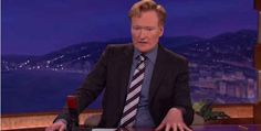 "Most late night shows were taped before the news of Robin Williams death was released, but during Conan's show he made the announcement to his audience, saying, ""We got some news during the show that Robin Williams has passed away."" 