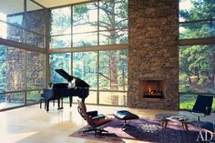 Windows and Fireplace  Design by Alexander Gorlin Architects