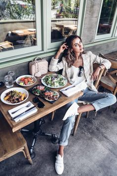 Mesa Verde - vegetarian restaurant in Santa Barbara Chic Outfits, Trendy Outfits, Breakfast Photography, Chanel Coat, Viva Luxury, Birthday Fashion, Elements Of Style, Santa Barbara, Vintage Chanel