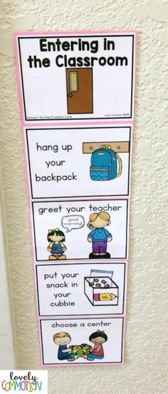 Help your Students Know What You Expect with Procedure Cards — Lovely Commotion Preschool Activities , Games and Resources - Colorful Candies Kindergarten 2020 Preschool Procedures, Classroom Procedures, Classroom Organisation, Preschool Activities, Preschool Rooms, Teach Preschool, Preschool Writing, Free Preschool, Kindergarten Classroom Management