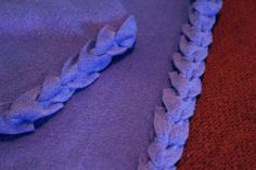 No Sew Fleece Blanket with cute tied edging (not knotted)