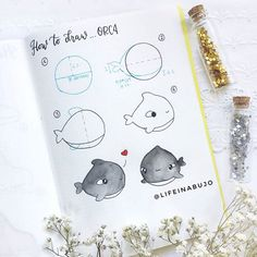 We do love step by step drawing lessons because it shows that drawing can be very fun and easy🎨👏 And… – interjectural-recom Bullet Journal Notebook, Bullet Journal Ideas Pages, Bullet Journal Layout, Bullet Journal Inspiration, Doodle Drawings, Easy Drawings, Doodle Art, Kawaii Doodles, Cute Doodles