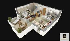 S+ 1c : (43 m²)  Cet appartement, situé au RDC des pavillons jumelés, offre une cuisine américaine ouverte sur le séjour. Cet espace lumineux, donne sur une terrasse confortable et un joli jardin privatif. La suite parentale permet un accès sur le jardin et intègre, une salle de bain moderne. Un vestiaire invité se trouve à l'entrée de l'appartement. Ce bien est idéal pour les jeunes couples et les personnes souhaitant un jardin pour se détendre et recevoir, à l'intérieur comme à…