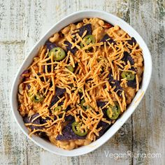 Nacho Mac and Cheese Casserole with Taco Tempeh 'meat'. Vegan Recipe - Vegan Richa