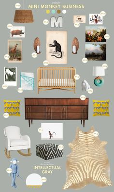Lay Baby Lay: mini monkey business - love the west elm Kilim ottomans! Too bad they're $250... ;(