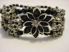 Glamorous Swarovski Jet Black Crystal and Silver by JadedJewelsUK, £12.00