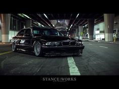 NIGHTFALL - Jeremy Whittle's StanceWorks BMW E38 - YouTube