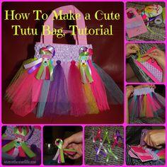 Tutu bags, Make your own cute little tutu bag, so simple and the kids will love them!  #tutu #tule #DIY #craft