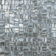 Elida Ceramica�12-1/2-in x 12-1/2-in Glass Mosaic Textured Nickel Glass Wall Tile $25 sf Lowes