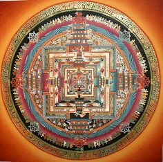 Thangka Paintings, kalchakra Mandala thangka painting