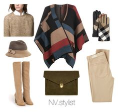 """""""Уютный кейп для стильной бизнес-леди)"""" by nv-stylist on Polyvore featuring мода, WearAll, Nly Shoes, AG Adriano Goldschmied, Massimo Dutti, Burberry, MARC CAIN, J.Lindeberg, women's clothing и women's fashion"""