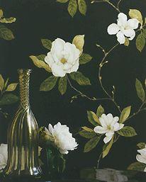 Sweet Bay Ivory/Green fra Sanderson - Tapetorama.no