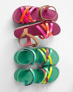Kickers Banded Leather Sandals