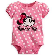 Minnie Mouse Polka Dot Disney Cuddly Bodysuit for Baby