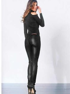 Frederick's of Hollywood: Faux Leather Jean