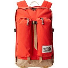 The North Face Crevasse (Fiery Red/Moab Khaki) Backpack Bags
