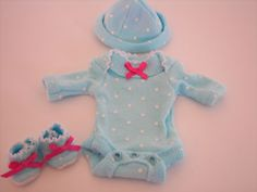 """OOAK BABY DOLL ONESIE, OUTFIT, CLOTHES FOR A 6"""" OOAK BABY GIRL - SPRINGTIME"""