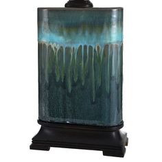 Copper Grove Boucherville Ceramic Table Lamp - Overstock - 11655340 Gold Couch, Lamp Shade Store, Southwestern Decorating, Ceramic Table Lamps, Blue Accents, Fabric Shades, Light Table, Vivid Colors, Art Pieces