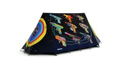 Space Invaders Tent - Retro Camping Tent designed by Terry Pastor. High Specification, Waterproof A-Frame Tent for 4 Season Use. Retro Camping, Best Tents For Camping, Cool Tents, Tent Camping, Glamping, Wooden Shack, 4 Season Tent, Retro Arcade Games, A Frame Tent