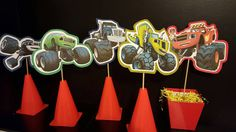 Blaze and the Monster Machines by FromAtoZbyTami on Etsy Blaze And The Monster Machines Party, Blaze The Monster Machine, 3rd Birthday Parties, Birthday Party Decorations, Boy Birthday, Torta Blaze, Hot Wheels Birthday, Monster Truck Birthday, Party Time