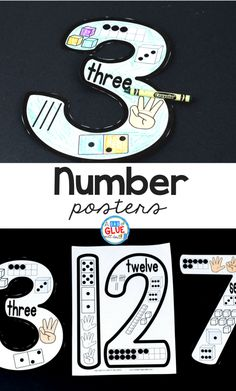 These printable number posters are the perfect addition to your PreK, Kindergarten, or First grade classrooms! Ideal for learning all about numbers. Numbers Kindergarten, Numbers Preschool, Learning Numbers, Math Numbers, Preschool Classroom, Classroom Ideas, Number Puzzles, Future Classroom, First Grade Classroom