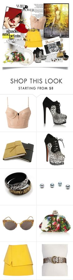 """""""The Wild Flower"""" by meenz92 ❤ liked on Polyvore featuring Oris, Alexander Wang, Alaïa, Avalaya, White Label, RetroSuperFuture, Dolce&Gabbana, Balenciaga, Steve Madden and Accessorize"""