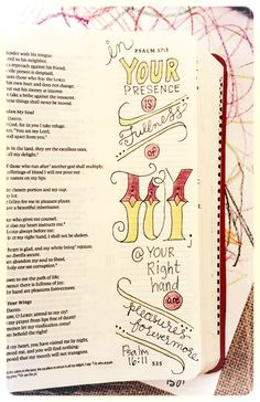 Psalm 16:11 - - magnolia and magenta | { fullness of joy }