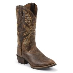 Justin Men's Silver Collection Buffalo Western Boots