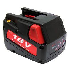 Power Tool Battery For MILWAUKEE V18 18-Volt