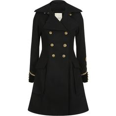 Cheap Karen Millen Coats,Karen Millen Military Coat Black ...