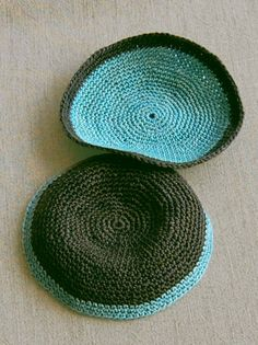 Whit's Knits: Crocheted Passover Yarmulke - The Purl Bee - Knitting Crochet Sewing Embroidery Crafts Patterns and Ideas!