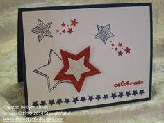 Be A Star and the June Paper Pumpkin stamps ~ Fun Card Designs #paperpumpkin #kit #stampinup #stamptasticdesigns #lynndunn