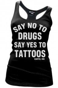 Women's Say No To Drugs Racerback Tank Top - Black