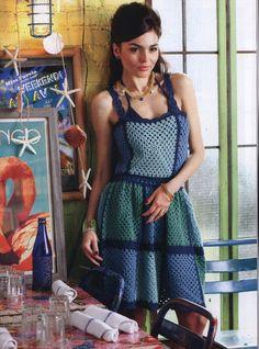 Crinochet - Granny square dress - Free pattern