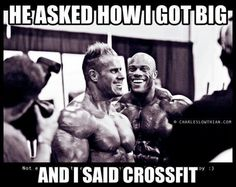 HAHAHA...oh lord. Crossfit you're so funny. ~ I have no issues with crossfit but this had me on the floor!