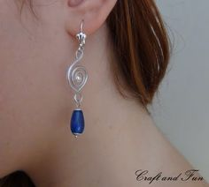 earrings made with recycled headset cable, tutorial available