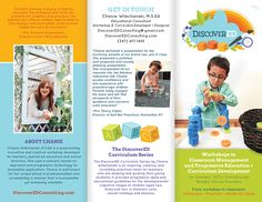 Brochure Design for DiscoverED Consulting - Website Design, Branding and Logo by Dapper Fox Design - A creative resource for Entrepreneurs and Bloggers